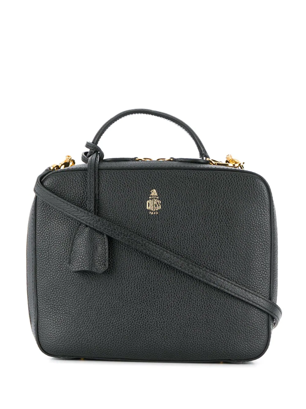 Mark Cross Madison Mini Soft Saffiano Box Crossbody Bag In Black