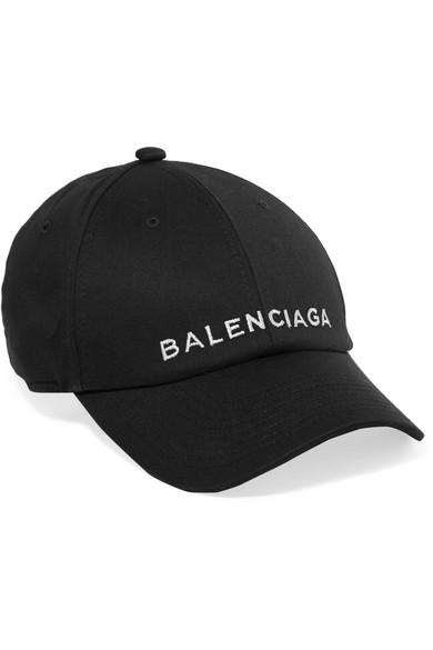 b377f74b57aa1 Balenciaga Embroidered Cotton Baseball Cap