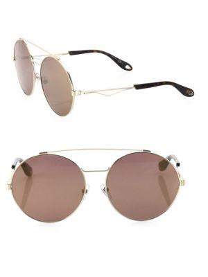 2839e25e7401 Givenchy 53Mm Round Double-Bridge Sunglasses In Light Gold | ModeSens