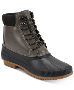 Tommy Hilfiger Colins Water Resistant Duck Boot In Dark Brown