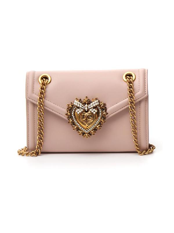 Dolce & Gabbana Mini Devotion Shoulder Bag In Pink