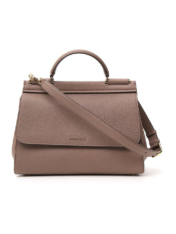 Dolce & Gabbana Sicily Top Handle Tote Bag In Brown