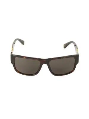 Versace Men's Rock Icons 58mm Square Sunglasses In Havana