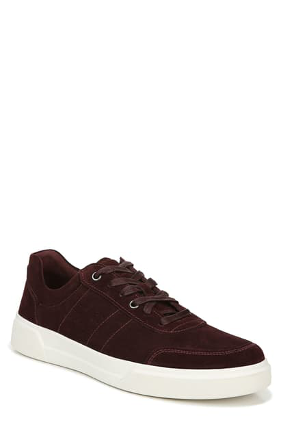 Vince Men's Barnett Perforated Suede Low-top Sneakers In Vintage Brick
