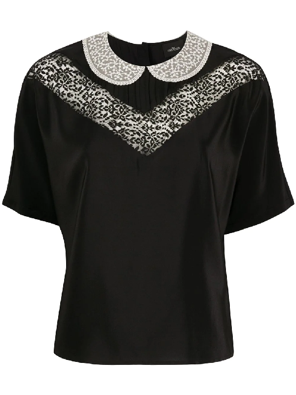 Marc Jacobs The Lace Blouse In Black