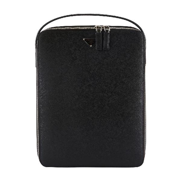 Prada Saffiano Leather Backpack In Nero