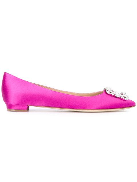Manolo Blahnik Hangisi Ballerinas - Pink