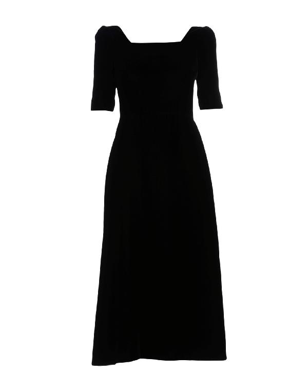 Saint Laurent 3/4 Length Dresses In Deep Purple