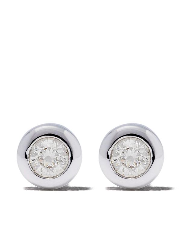 Astley Clarke 14kt White Gold Diamond Mini Icon Nova Stud Earrings