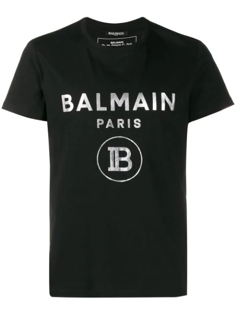 Balmain Slim-fit Logo-print Cotton-jersey T-shirt In Black