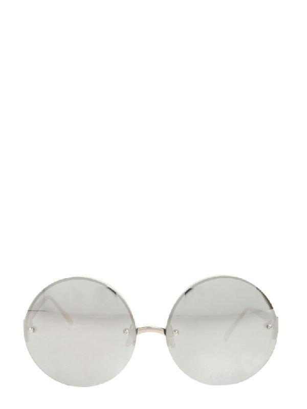 e0285b00be75 Linda Farrow Round Sunglasses In Argento
