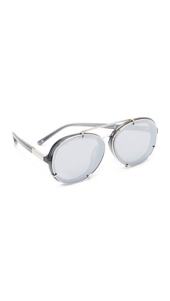 3.1 Phillip Lim Women's Mirrored Aviator Sunglasses, 61Mm In Silver/Silver