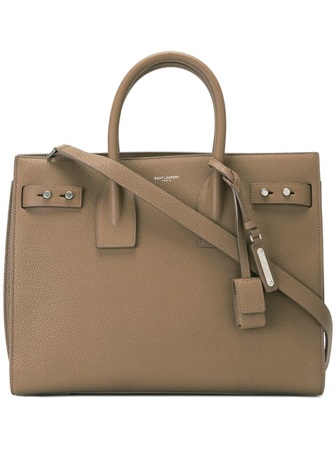 Saint Laurent Sac De Jour Small In Grained Leather In Brown