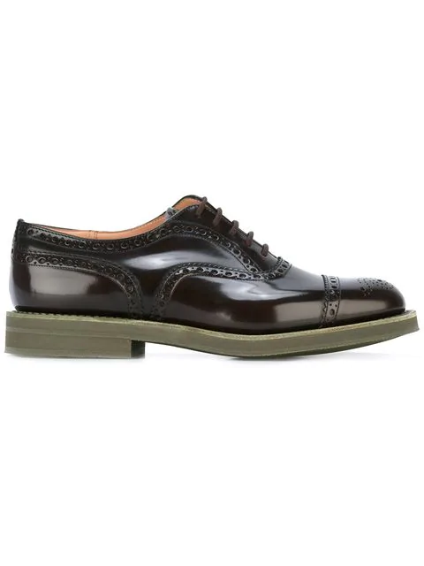 Church's Brogue Detailed Oxfords - Brown