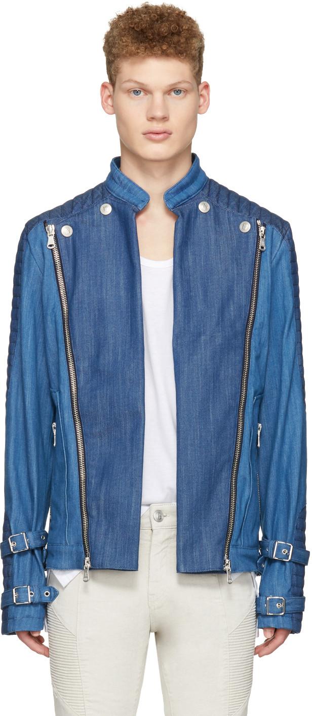 a821b3000d Pierre Balmain Blue Denim Convertible Jacket