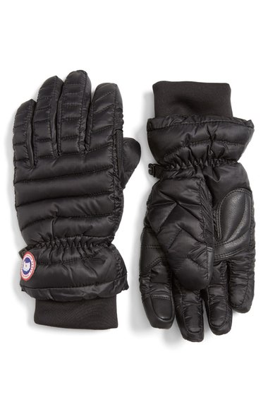 Canada Goose Lightweight Quilted Down-filled Gloves In Black