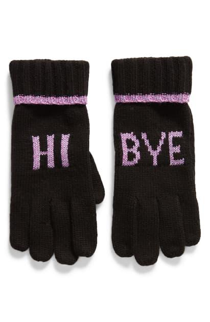 Kate Spade Hi Bye Gloves In Black