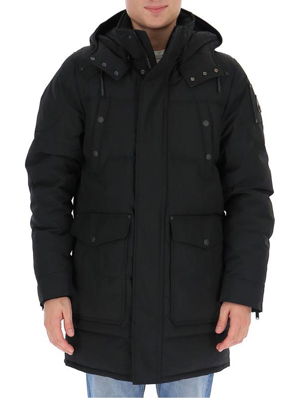 Moose Knuckles Men's Black Polyamide Outerwear Jacket