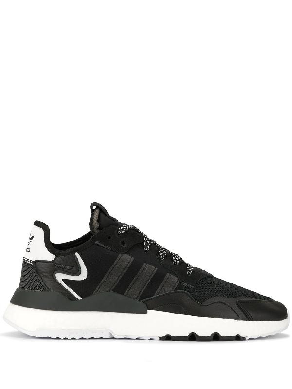 Adidas Originals Adidas Men's Originals Nite Jogger Casual Shoes In Black Size 13.0 Nylon/Suede