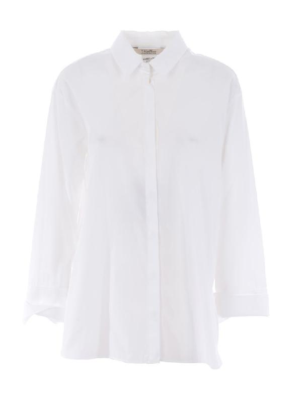 Max Mara Shirt In Bianco