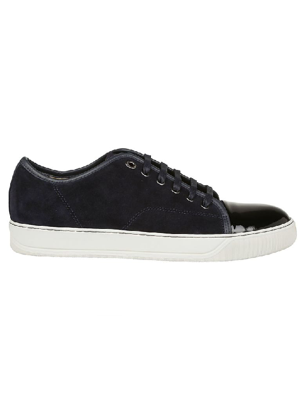 Lanvin Low Top Sneaker In Dark Blue