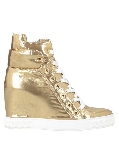 Casadei 'Lace-Up Sneaker' In Gold
