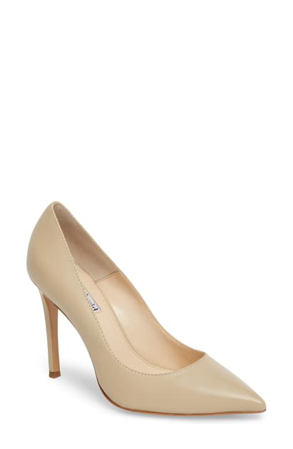 Charles David Women's Caleesi Leather Pointed Toe High-Heel Pumps In Nude Leather