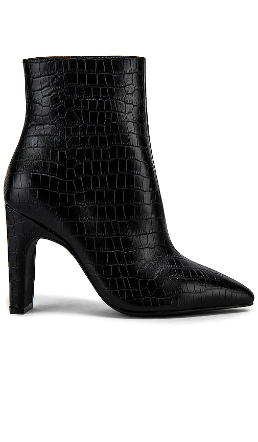 Sol Sana Scottie Bootie In Black Croc