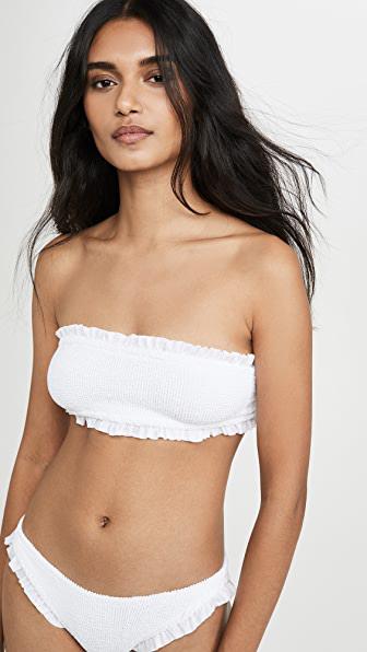 Hunza G Ines Bikini Set In White/white