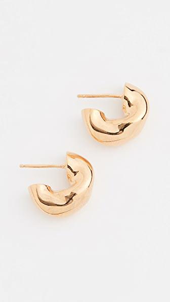 Agmes Small Dahlia Hoops In Gold Vermeil