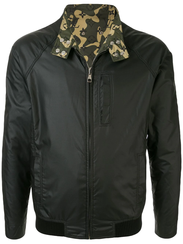 Pre-owned Louis Vuitton  Reversible Bomber Jacket In Black
