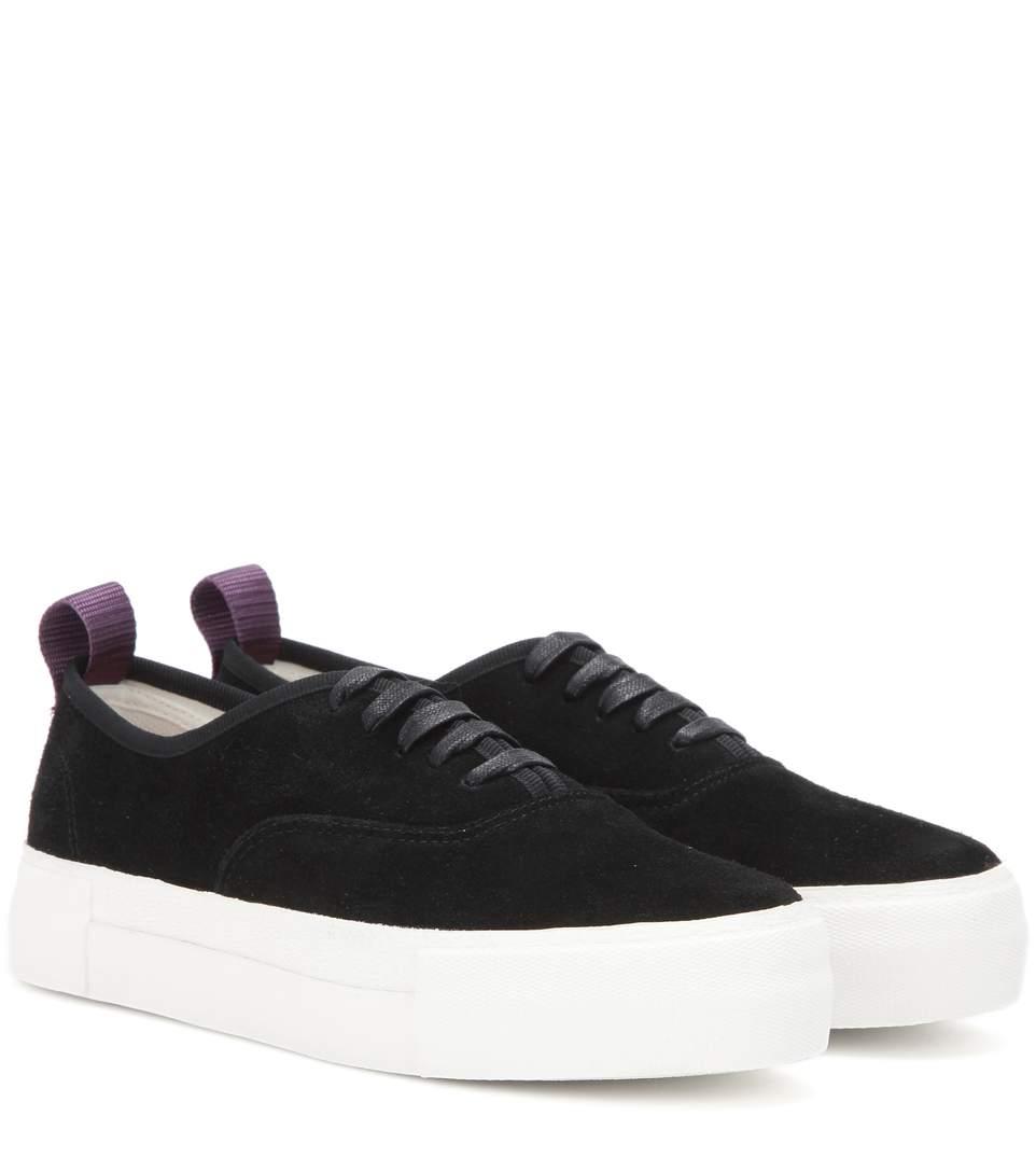 Eytys Black Suede Mother Sneakers In Llack