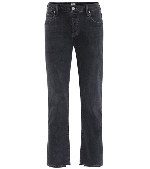Citizens Of Humanity Emerson High Waist Slim Boyfriend Jeans In Black