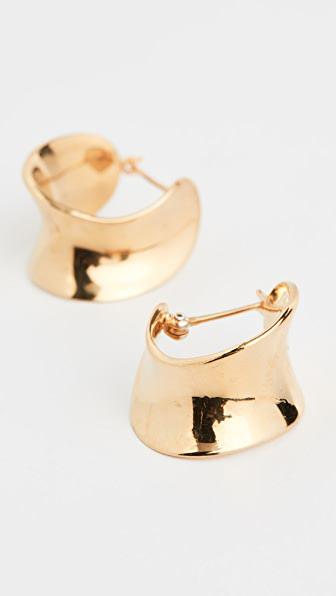 Agmes Mini Laila Hoops In Gold Vermeil