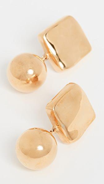 Agmes Luca Earrings In Gold Vermeil