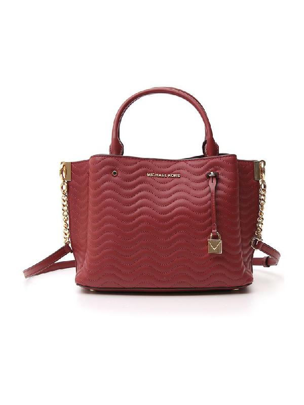 Michael Michael Kors Arielle Tote Bag In Red
