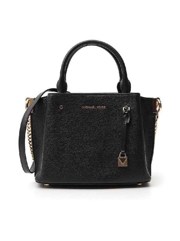 Michael Michael Kors Arielle Small Tote Bag In Black