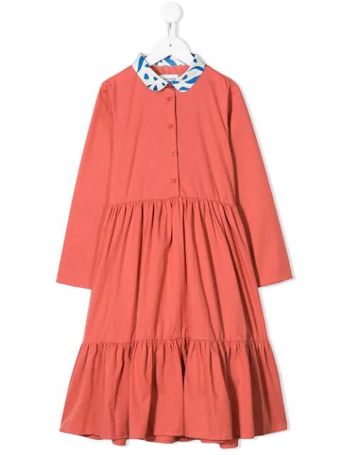 Wolf & Rita Kids' Flared Style Dress In Pink