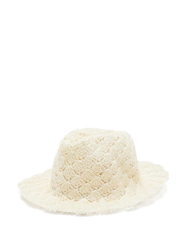 Reinhard Plank Hats Eli Paper-straw Fedora Hat In White