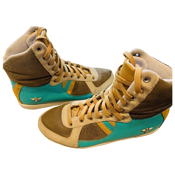 Creative Recreation Turquoise Leather Trainers