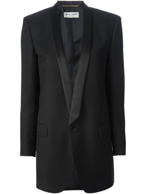 Saint Laurent Classic Dinner Jacket In Black