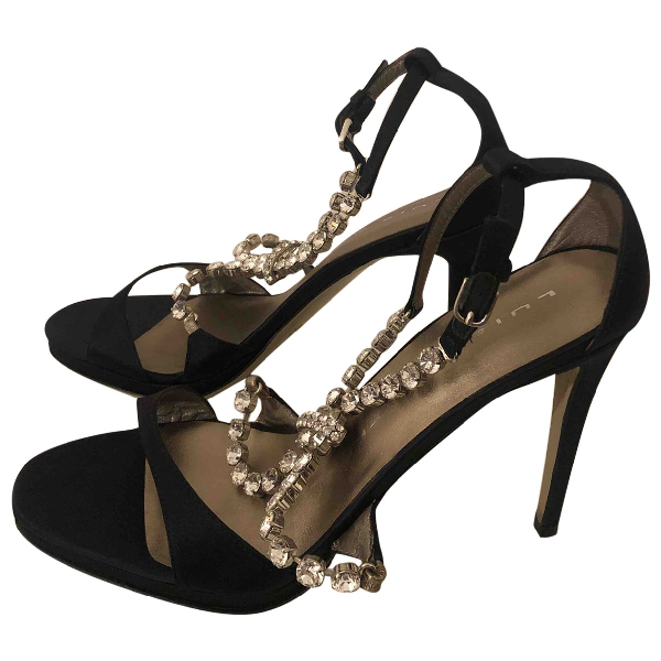 Luis Onofre Black Cloth Sandals