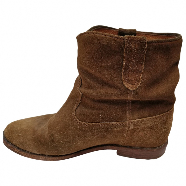 Isabel Marant Crisi  Brown Suede Ankle Boots