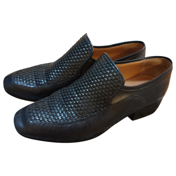 Roseanna Blue Leather Flats