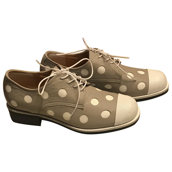 Yuul Yie Grey Leather Lace Ups