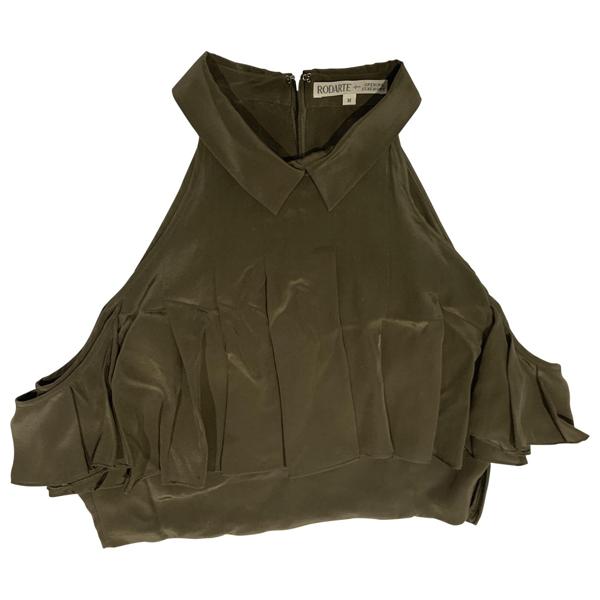 Pre-owned Rodarte Green Silk  Top
