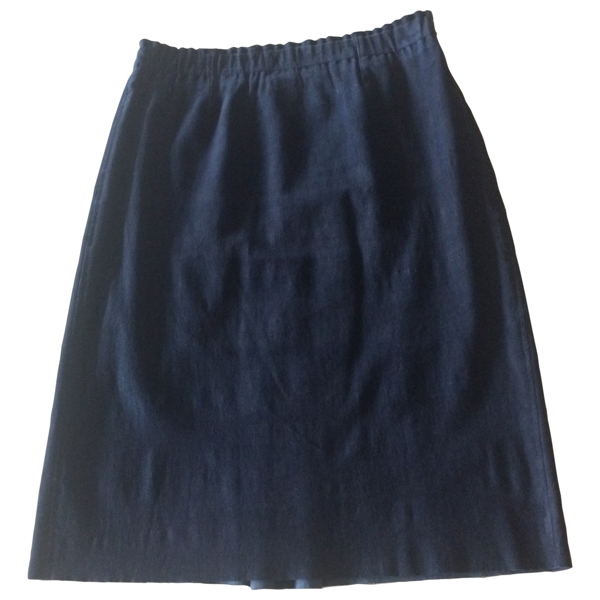 Pre-owned Stouls Navy Suede Skirt