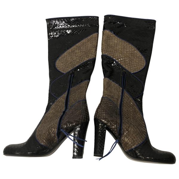 Emanuel Ungaro Grey Python Boots