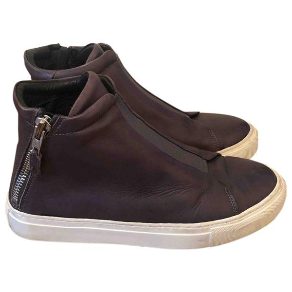 Royal Republiq Grey Leather Flats
