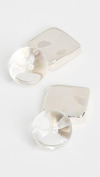 Agmes Luca Earrings In Silver/quartz